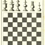 Chess board and pieces from the Dictionnaire de jeux