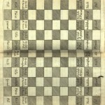 Chess board from Thomas Hyde's Mandragorias